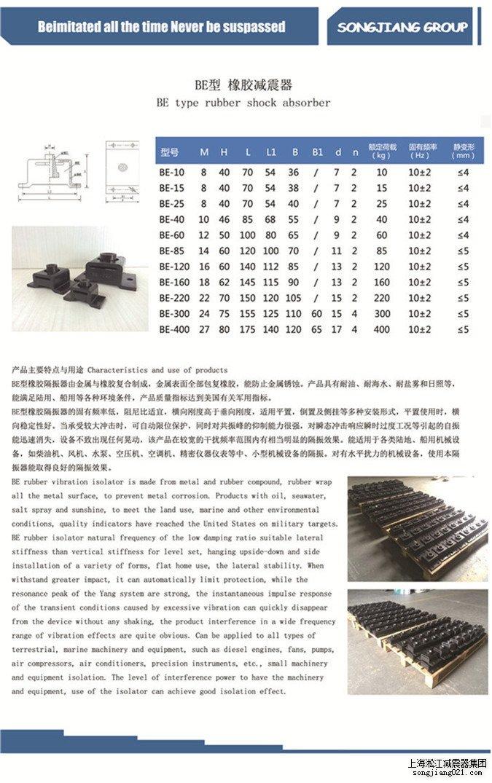 淞江BE橡胶减震器